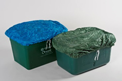 Blue or Green Boxhat Covers with tie