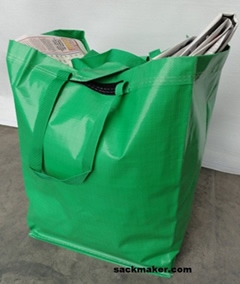 Green Recycling Collection Sacks